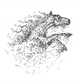 horse jump particle vector image vector image