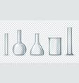 laboratory glass equipment vector image vector image