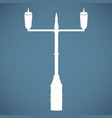 lamp post street icon vector image