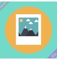 Landscape photo icon - vector image