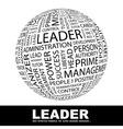 LEADER vector image vector image