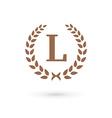 Letter L laurel wreath logo icon vector image vector image