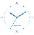 mechanical blue clock vector image vector image