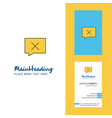 message not sent creative logo and business card vector image