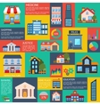 Modern flat city background infographics vector image vector image