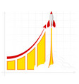 Office infographics showing growth rates sales