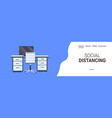 office workplace desk social distancing vector image vector image