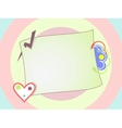 Pink Cartoon Retro Frame Circled Background vector image