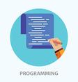Programming vector image vector image
