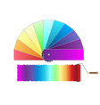 roller brush color palette icon isolated on white vector image vector image