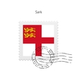 Sark Flag Postage Stamp vector image vector image