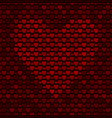 seamless pattern with hearts on dark background vector image vector image