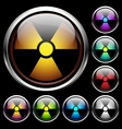set icons radiation vector image