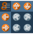set of eight icons - with arrows vector image vector image