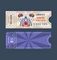 set of tickets for circus performances events vector image