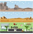 set posters banners with archaeologists vector image vector image