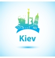 silhouette of Kiev vector image vector image