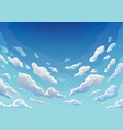 sky clouds morning landscape with clouds vector image vector image