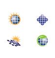 solar logo energy icon vector image vector image