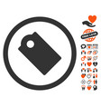 tag icon with dating bonus vector image