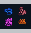 teamwork results support and people icons queue vector image vector image