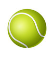 tennis ball - modern realistic isolated vector image