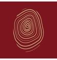 The fingerprint icon Fingerprint symbol Flat vector image vector image