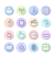 Thin Line Icons For Interface vector image vector image