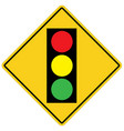 traffic light on white background flat style vector image vector image
