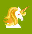 unicorn cute - card and shirt design cartoon vector image vector image