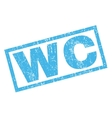 WC Rubber Stamp vector image vector image