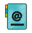 folder document with arroba symbol vector image
