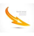 orange arrow vector image