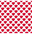 red glossy candy hearts seamless pattern vector image