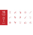 15 shot icons vector image vector image