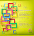abstract bright geometric poster vector image vector image