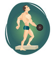 an athlete weightlifter vector image vector image