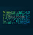 analysis colorful horizontal banner vector image vector image