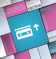 audio cassette icon sign Modern flat style for vector image vector image