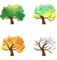 autumn tree changes watercolor vector image vector image