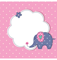 Baby background with cute elephant vector image vector image