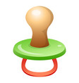 baby pacifier icon cartoon style vector image vector image