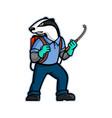 badger pest control mascot vector image