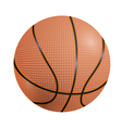 Basketball ball on a white background vector image vector image