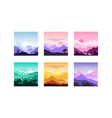beautiful mountain landscape in different times of vector image vector image
