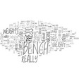 bench press text word cloud concept vector image vector image