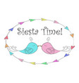 birds couple siesta time vector image vector image