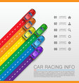 car racing info art cover vector image vector image