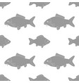 carp and crucian of different sizes seamless vector image