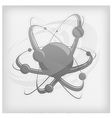 central nucleus surrounded by electrons vector image vector image